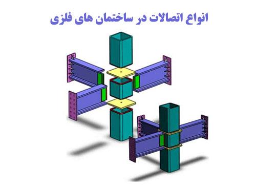 پاورپوینت با عنوان انواع اتصالات در ساختمان های فلزی