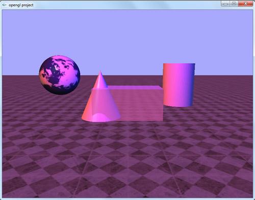 پروژه سه بعدی اپن جی ال اشکال هندسی ابتدایی