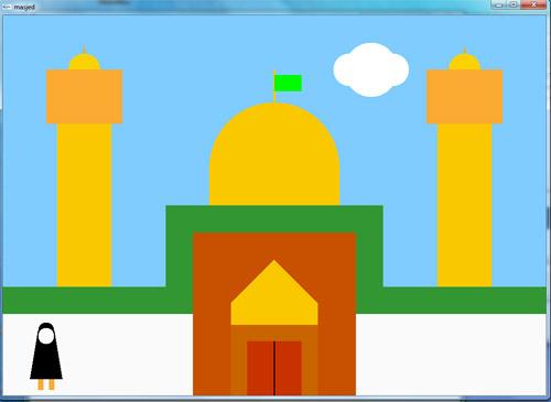 پروژه گرافیک طراحی مسجد و مناره ها در opengl