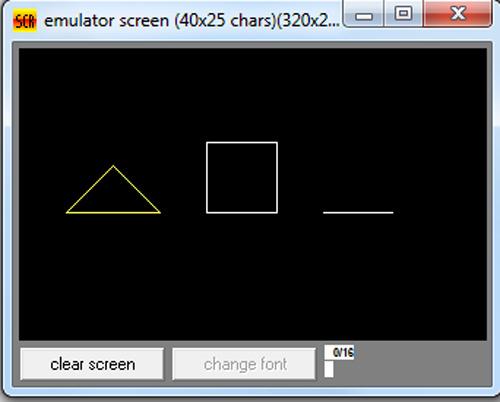 برنامه رسم اشکال هندسی در زبان اسمبلی