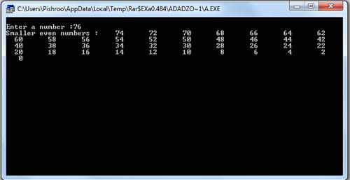 برنامه چاپ اعداد زوج کوچکتر از یک عدد در اسمبلی