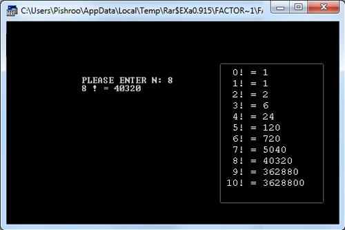 برنامه محاسبه فاکتوریل یک عدد در اسمبلی