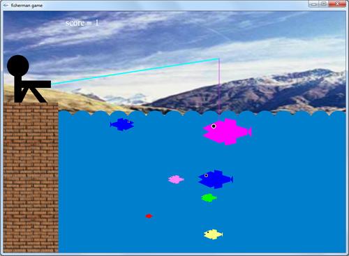 پروژه دو بعدی بازی ماهیگیر در گرافیک کامپیوتری
