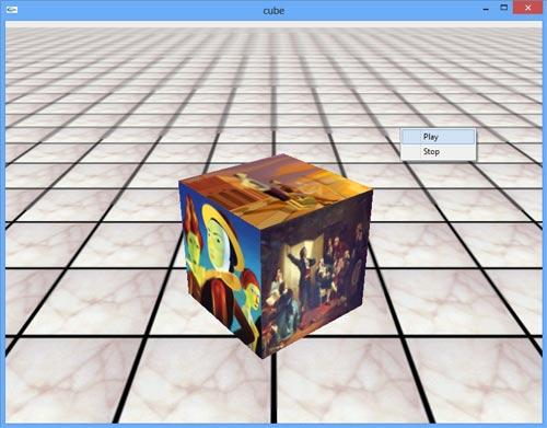 سورس کد آماده پروژه چرخش مکعب مربع سه بعدی opengl