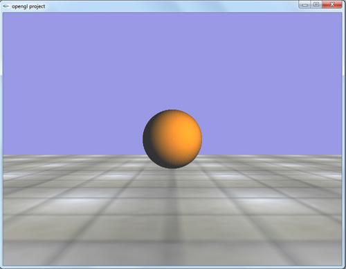 پروژه گرافیک سه بعدی حرکت توپ در جهات مختلف