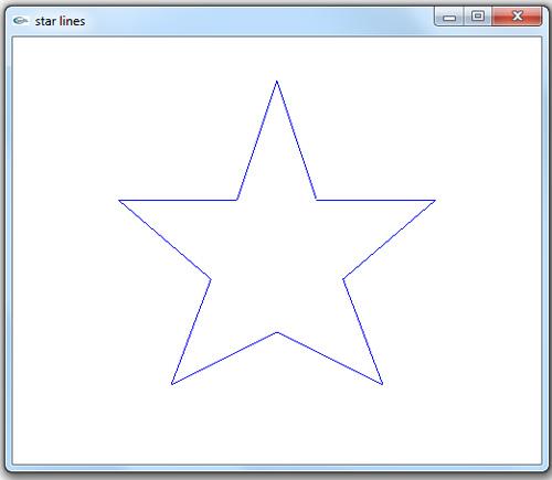 پروژه ساده دو بعدی رسم ستاره با خطوط