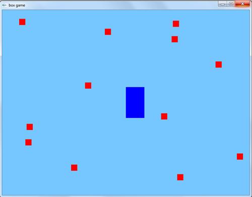 سورس کد بازی دو بعدی ساده در گرافیک اپن جی ال