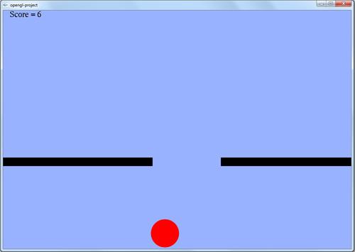 پروژه بازی ساده توپ و خطوط در opengl