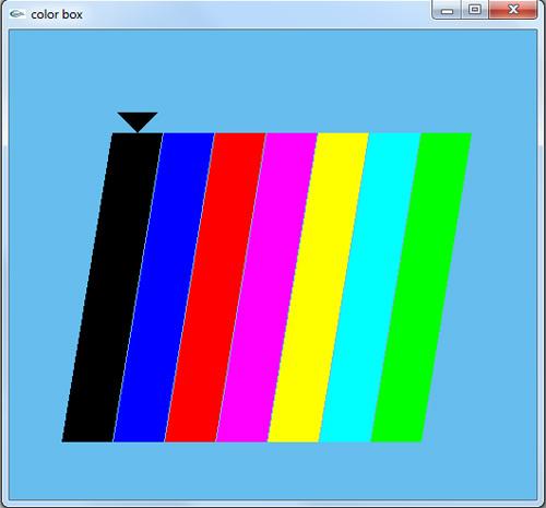 پروژه ساده گرافیک اپن جی ال طیف های رنگی