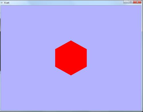برنامه رسم شش ضلعی منتظم در اپن جی ال