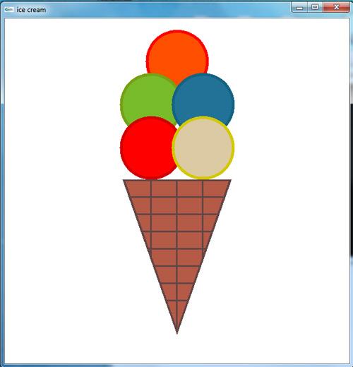 پروژه شکل ساده بستی قیفی در گرافیک opengl