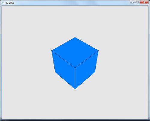 پروژه ساده گرافیک کامپیوتری مکعب سه بعدی