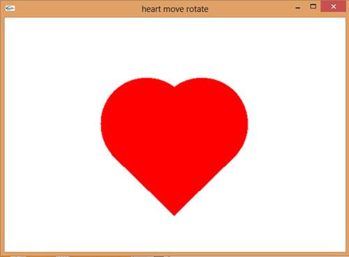 دانلود سورس برنامه ترسیم، چرخش و حرکت قلب در اپن جی ال