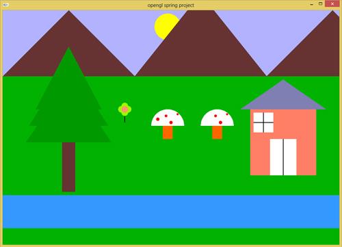 پروژه گرافیک نقاشی بهار به همراه فایل توضیحات کامل