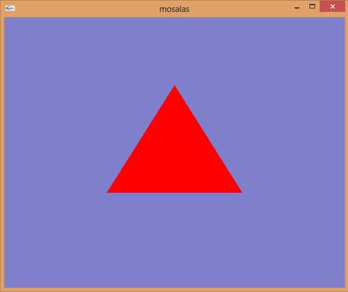 سورس برنامه ساده رسم مثلث و حرکت آن در اپن جی ال