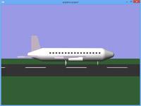 پروژه سه بعدی گرافیک opengl پرواز هواپیما مسافربری از فرودگاه