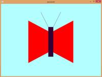 دانلود برنامه ترسیم شکل ساده دو بعدی پروانه در اپن جی ال