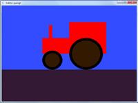 برنامه گرافیک رسم دو بعدی تراکتور با رنگ های متغیر