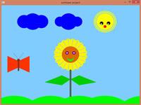 پروژه متحرک گرافیک کامپیوتری اپن جی ال آفتابگردان و پروانه