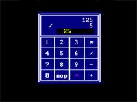 ماشین حساب گرافیکی چهار عمل اصلی در اسمبلی