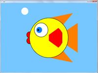 پروژه دو بعدی اپن جی ال حرکت ماهی در زیر آب