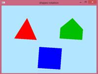 برنامه چرخش اشکال هندسی ساده در گرافیک کامپیوتری opengl
