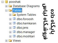 پروژه آماده پایگاه داده اس کیو ال مدیریت فروشگاه لباس