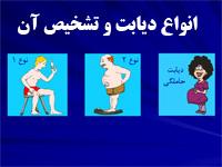 پاورپوینت انواع بیماری دیابت و روش تشخیص و درمان آن