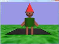 پروژه سه بعدی گرافیک حرکت آدمک با کنترل دوربین