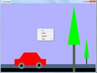 پروژه گرافیک اپن جی ال حرکت ماشین با توضیحات کامل