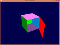 سورس برنامه گرافیک کامپیوتری وجه متحرک مکعب مربع