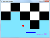 پروژه گرافیک بازی دوبعدی توپ و راکت در صفحه شطرنجی