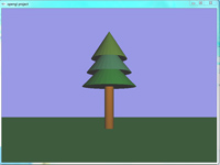 پروژه سه بعدی درخت کاج با نورپردازی در opengl