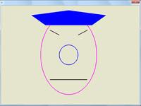 پروژه ساده دو بعدی اپن جی ال ترسیم چهره فرد چینی