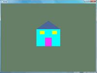پروژه رسم خانه ساده دو بعدی در opengl