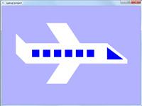 پروژه گرافیک کامپیوتری ساده هواپیما در آسمان