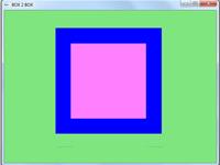 پروژه گرافیک کامپیوتری حرکت مربع تو در تو
